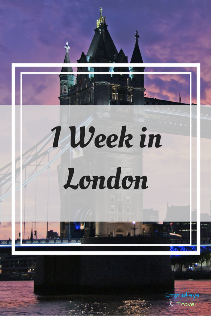 1 week in London Itinerary Pinterest Graphic