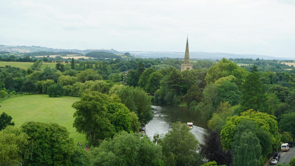 View of the River Avon from the Tower of the Royal Shakespeare Company, Stratford-Upon-Avon