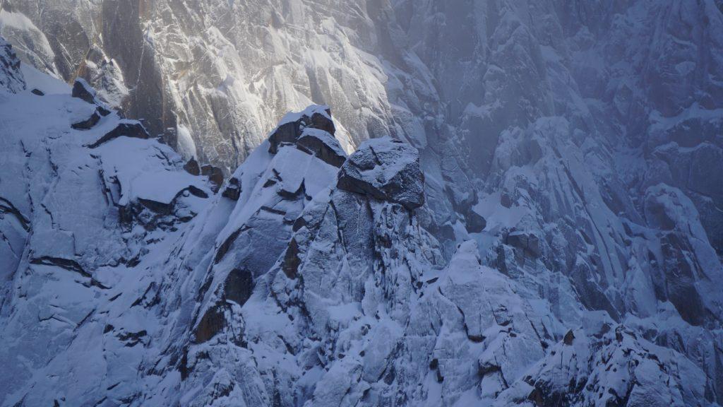 Detail of Aiguille du Midi