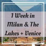 Pinterest Graphic for 1 Week in Milan