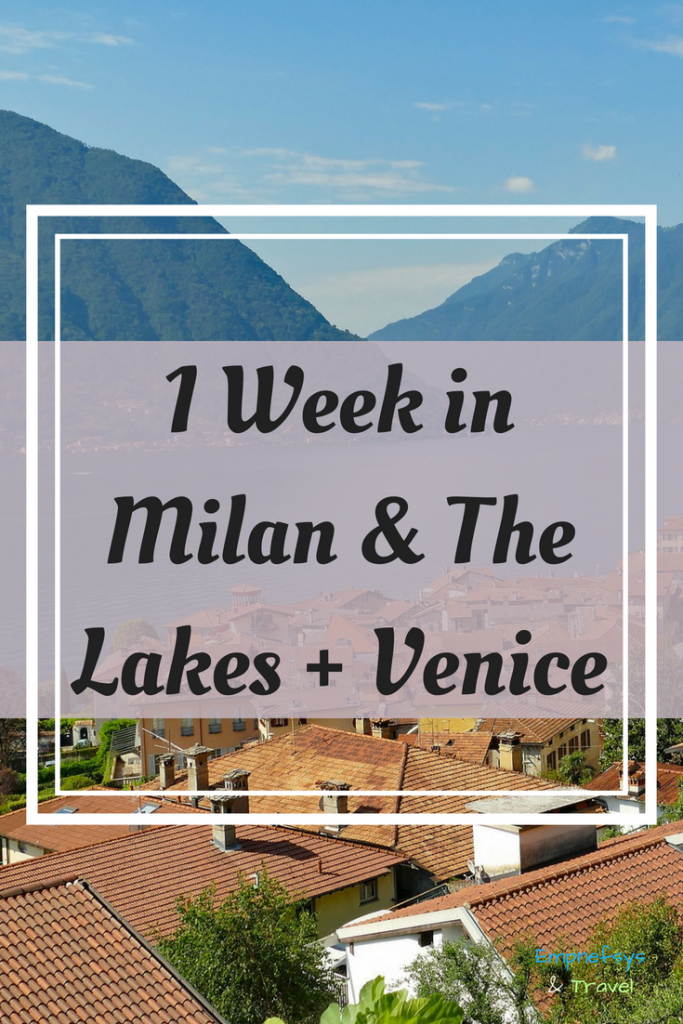 Pinterest Graphic for 1 Week in Milan