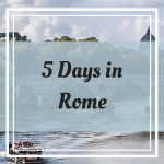 Pinterest Graphic for 5 days in Rome