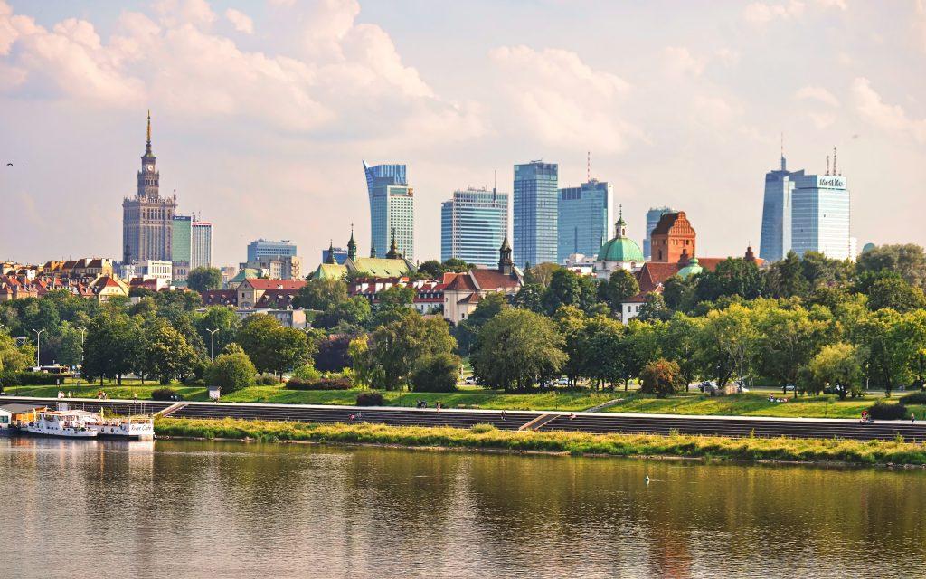 Skyline of Warsaw