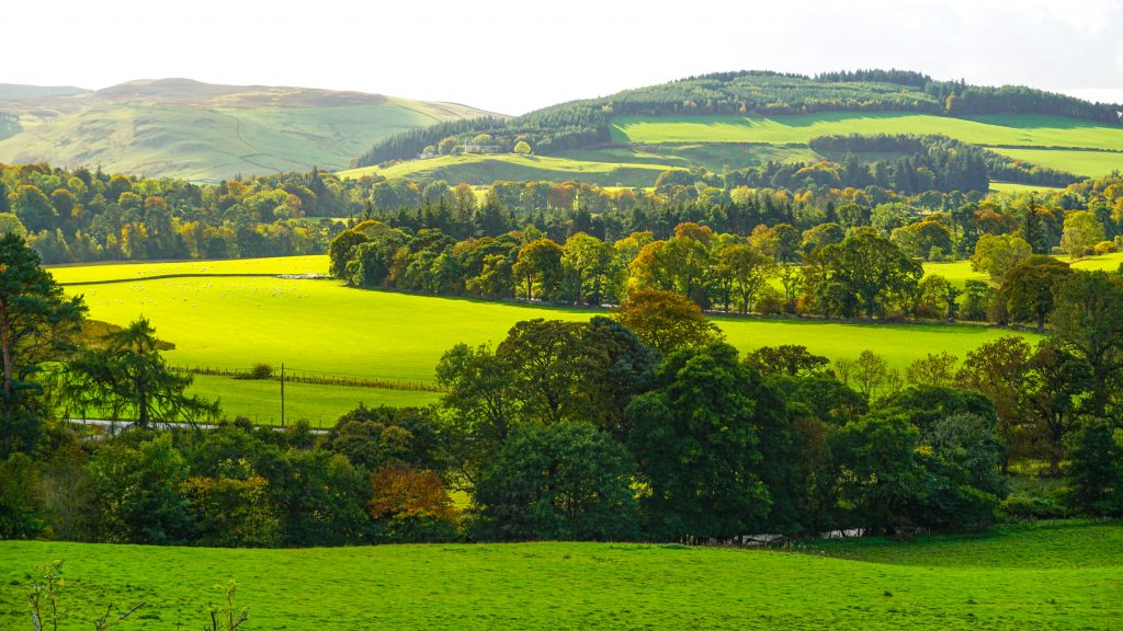 View of hills from Peebles
