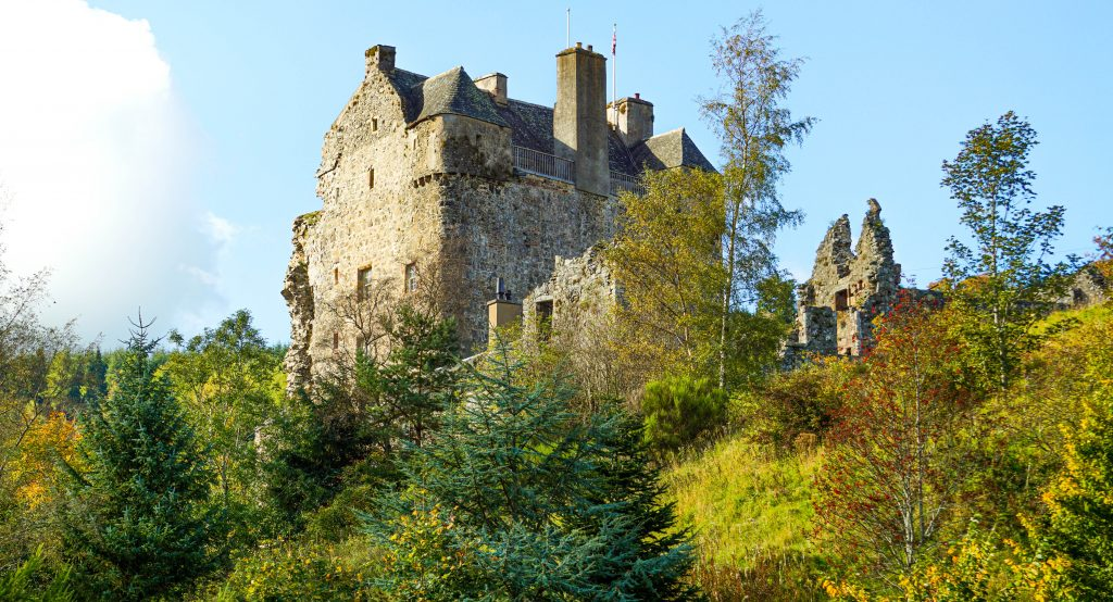 Needpath Castle close-up, Peebles