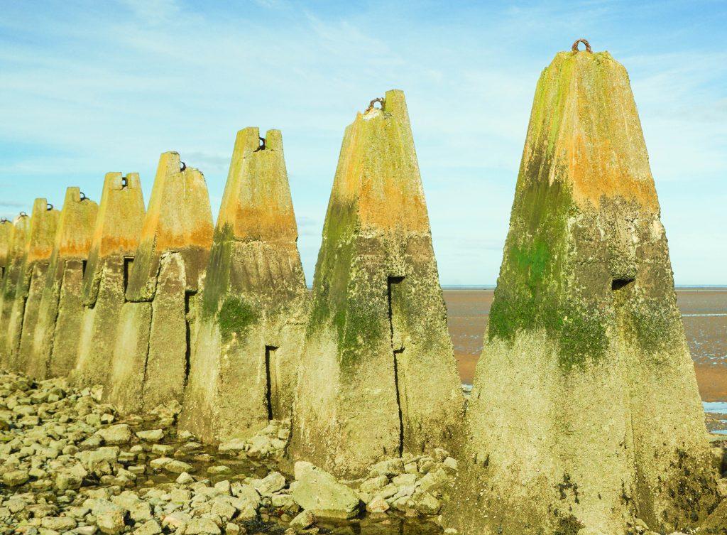 Cramond Island Footpath Pylons