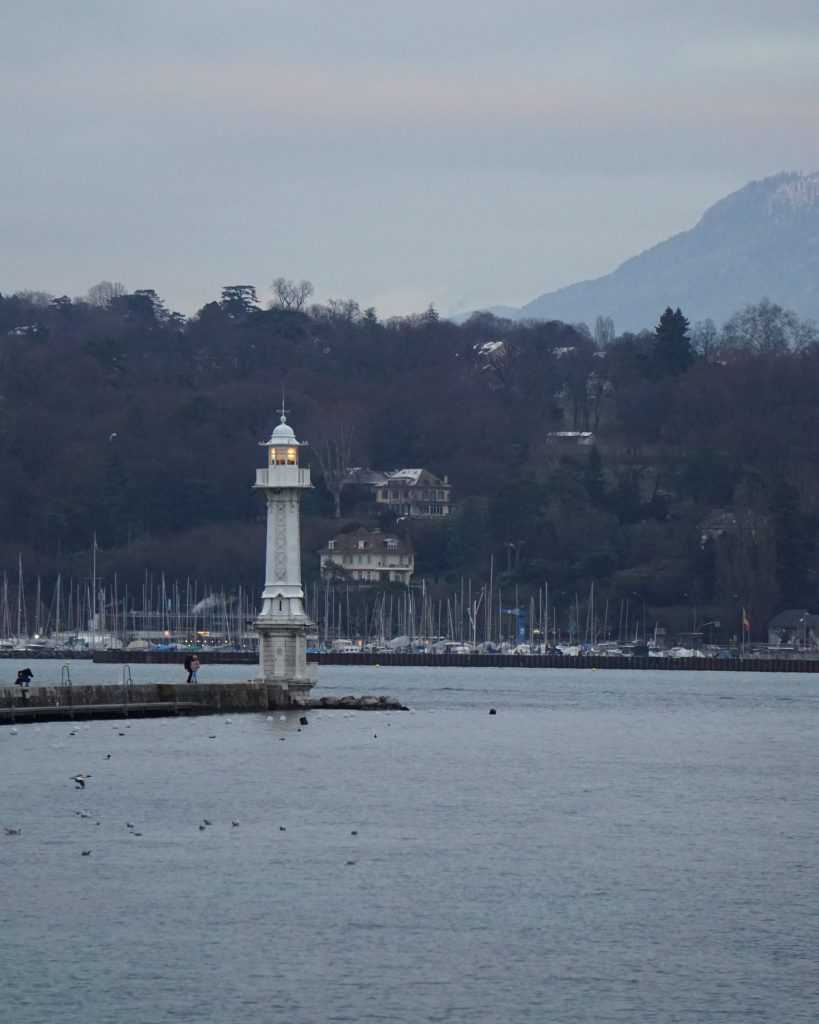 A lighthouse in Geneva