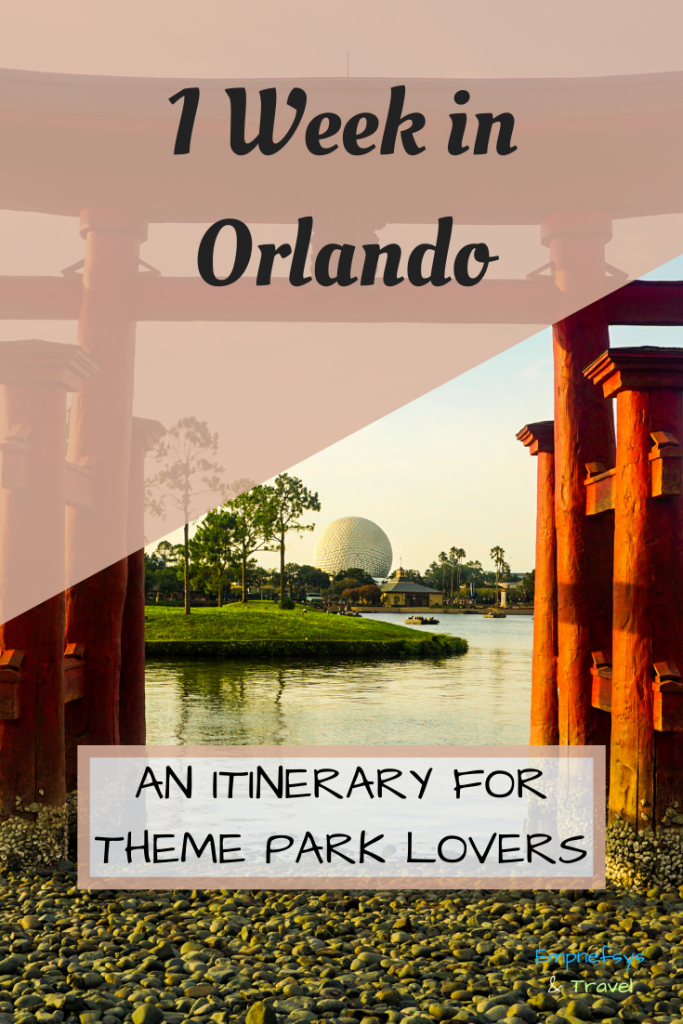 1 Week in Orlando Itinerary Pinterest Graphic