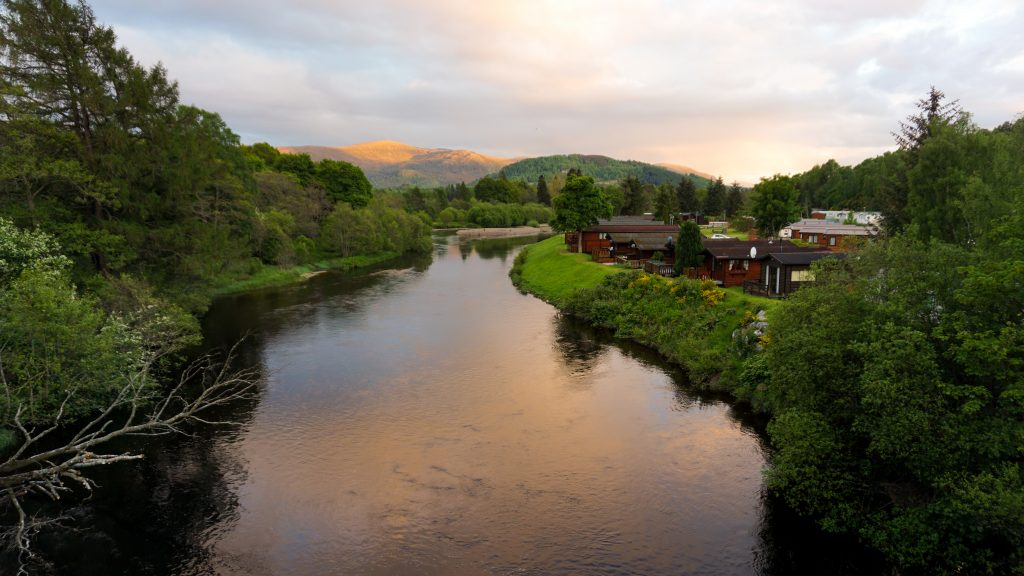 Sunset view of Aviemore