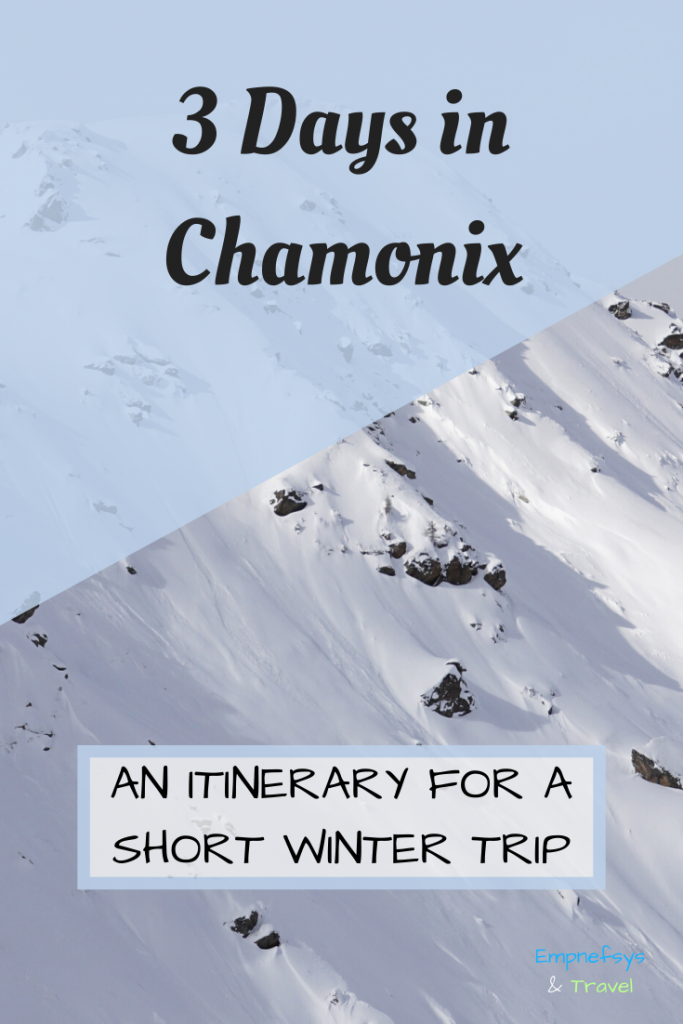 Chamonix Itinerary Pinterest Graphic