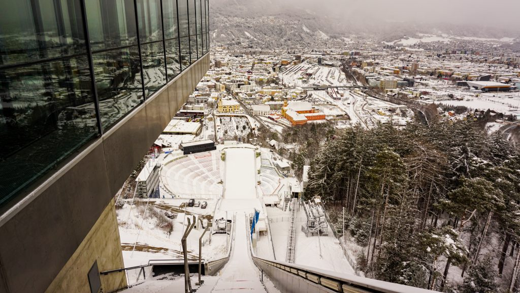 Bergisel Ski Jump platform and view