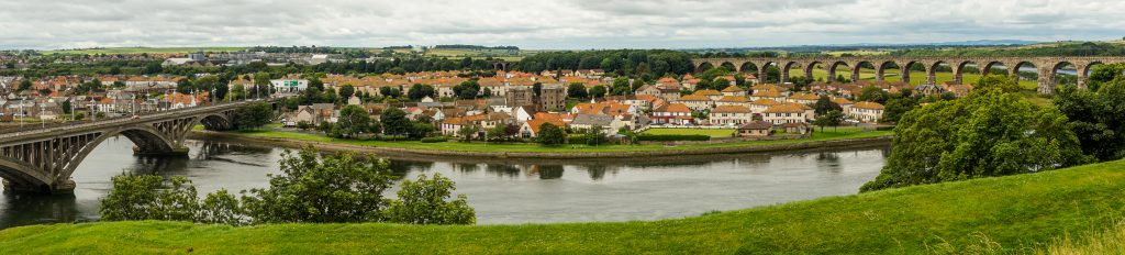 Day trip to Berwick-upon-Tweed Enlgand Panorma