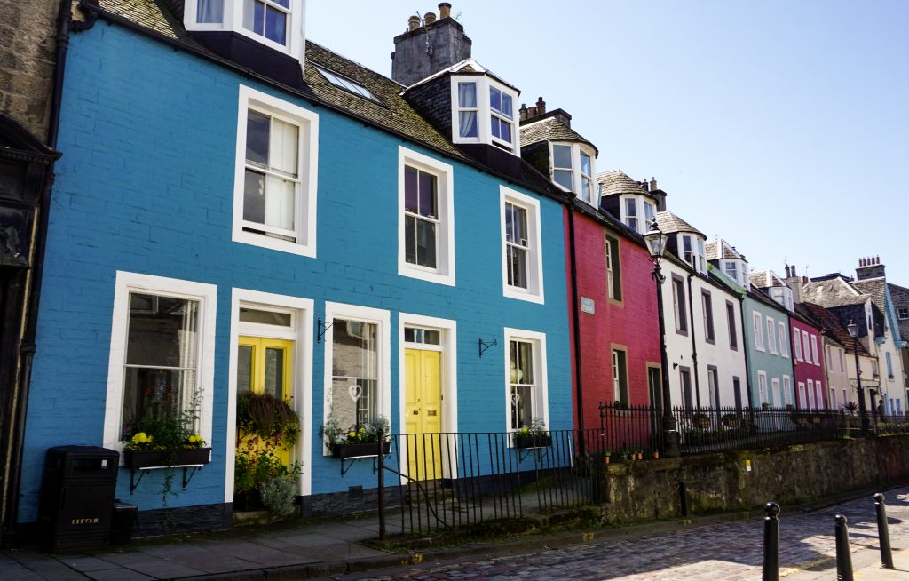 Colourful homes in Queensferry
