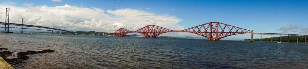 Panorama of Queensferry bridges
