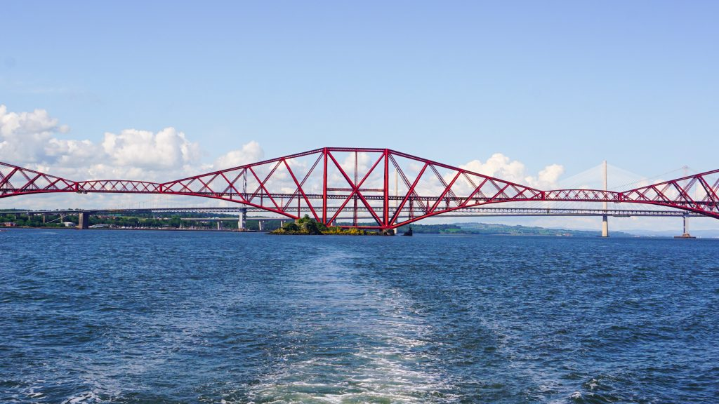 Forth rail bridge from the boat