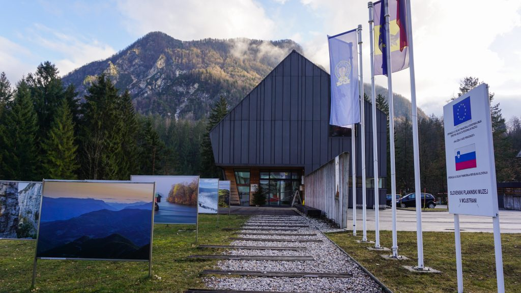 Entrance of the Slovenian Alpine Museum in Mojstrana