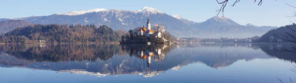 Panorama view of Lake Bled