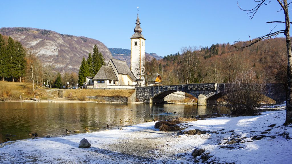 St. John the Baptist's Church at Lake Bohinj