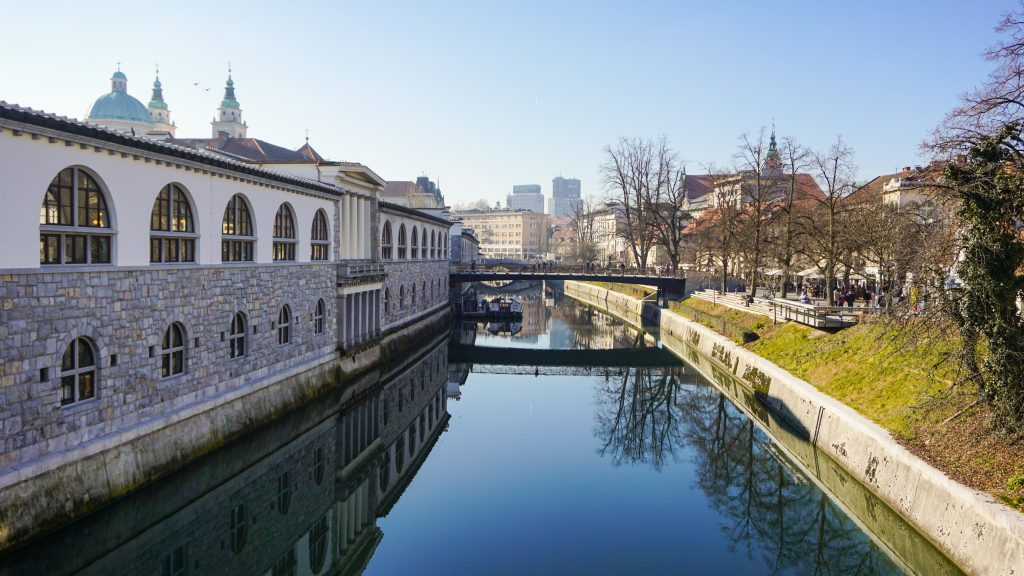 View of the Ljubljanica River to introduce 3 days in Ljubljana itinerary