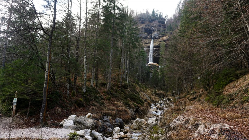 Pericnik Waterfall from a distance