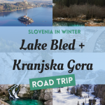 Collage of Lake Bled, Zelenci Nature Reserve, Vogel and Savica Waterfall