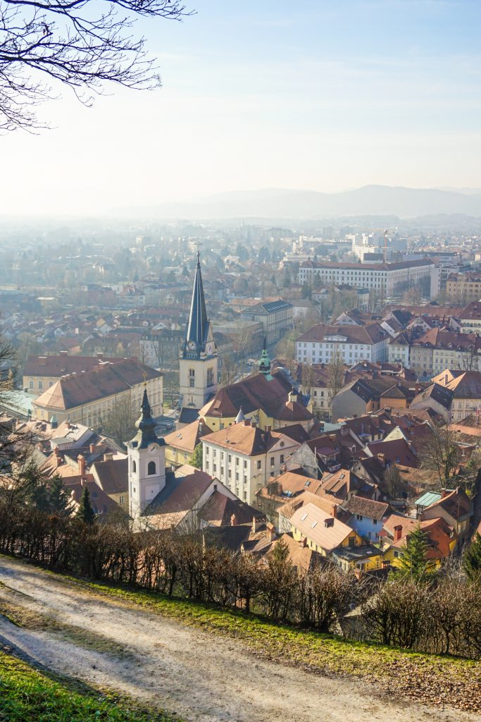 View of Ljubljana from the Castle Hill