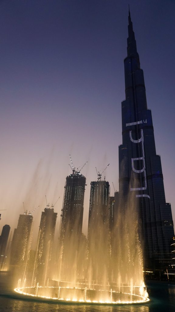 Burj Khalifa and the Dubai Fountain