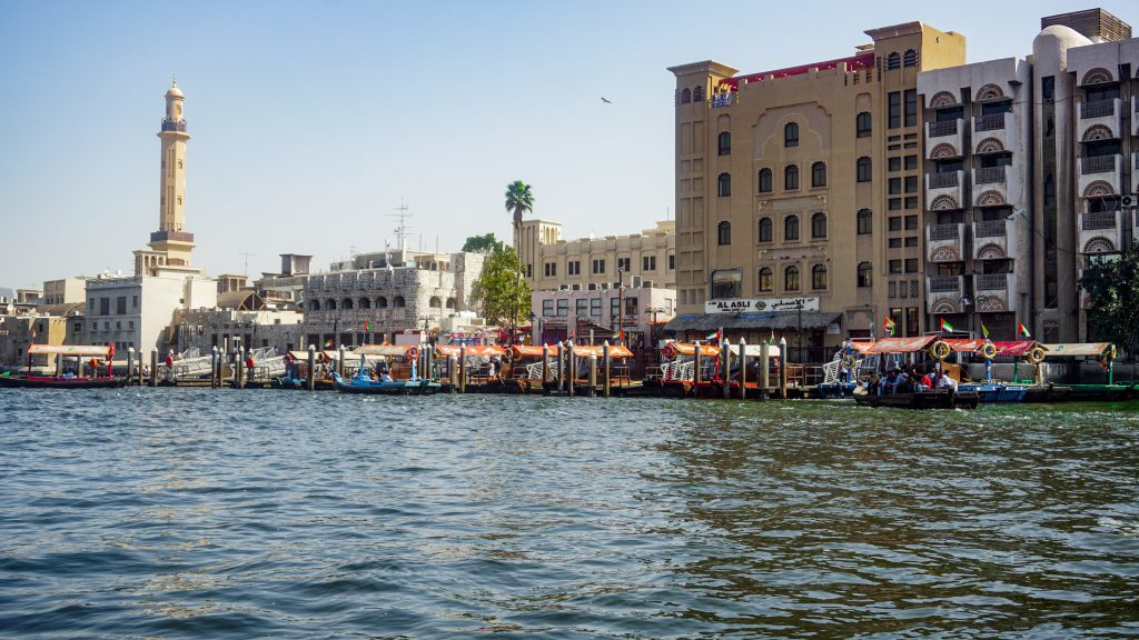 Views of Dubai Creek from an Abra baot