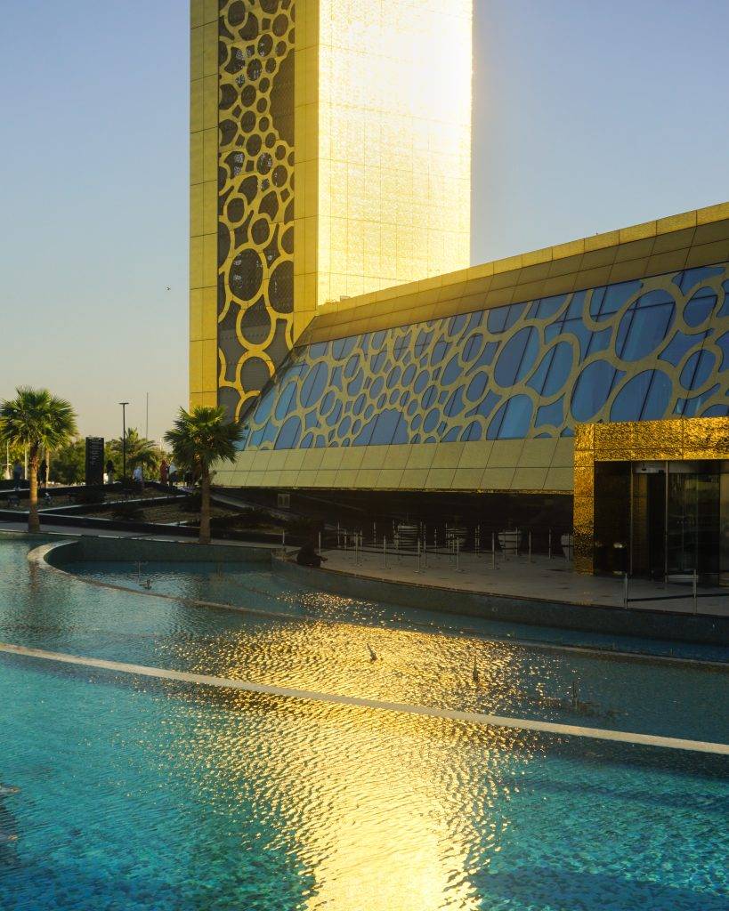 A set of pools outside Dubai Frame