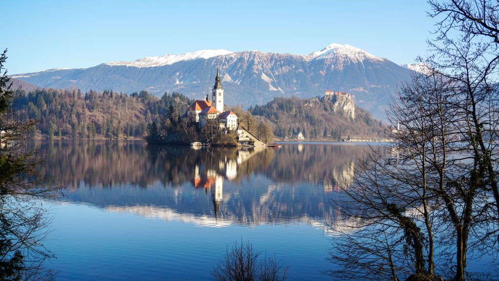 View of Bled Island and Bled Castle