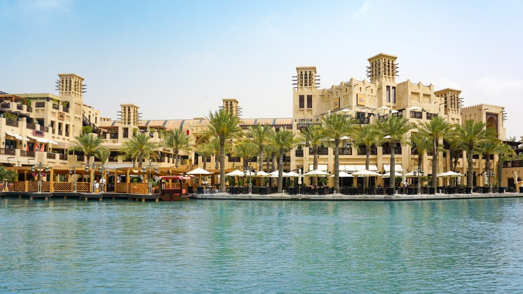 View of luxury buildings at Madinat Jumeirah