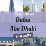 Pinterest Graphic for Dubai Abu Dhabi Itinerary 1 Week in the UAE