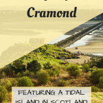 Pinterest Graphic for a day trip to Cramond near Edinburgh in Scotland