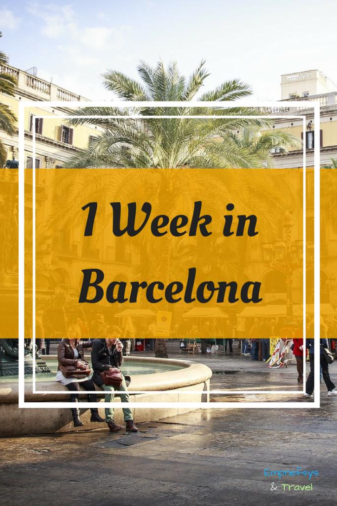 Pinteresr Graphic for 1 Week in Barcelona