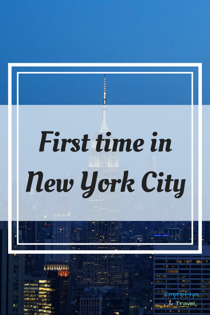 Pinterest Graphic for First Time in New York City