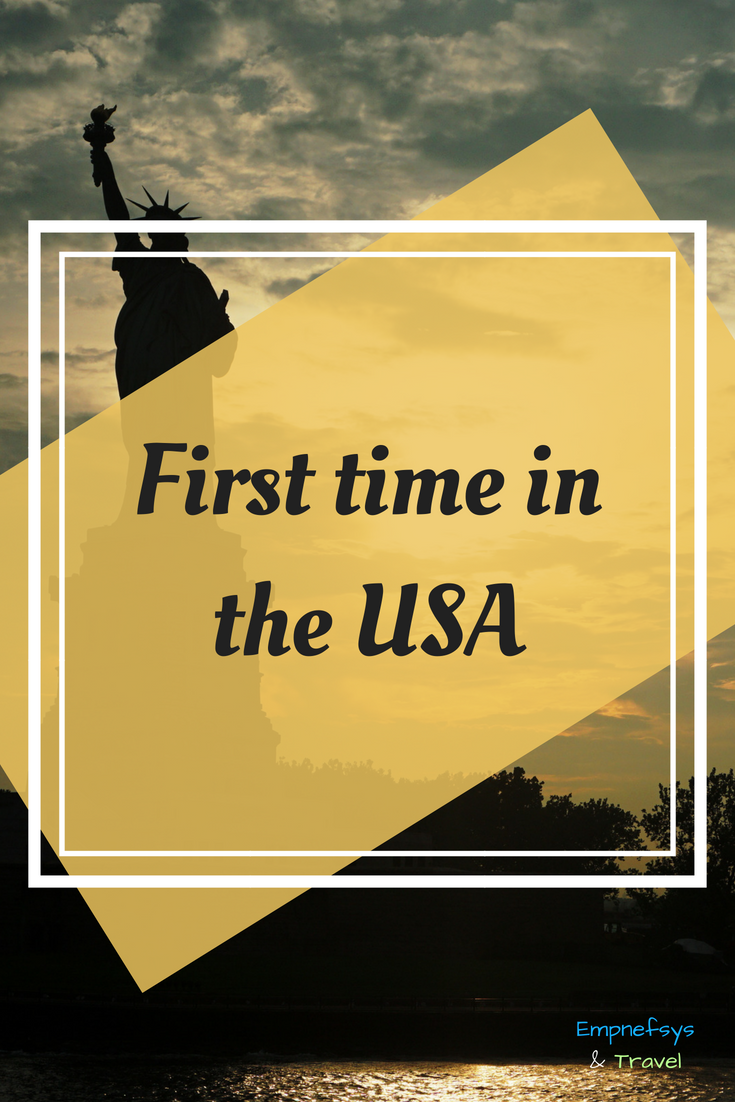 Pinterest Graphic for First Time in the USA