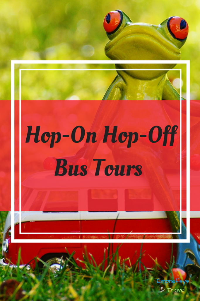 Pinterest Graphic for Hop-On Hop-Off Bus Tours