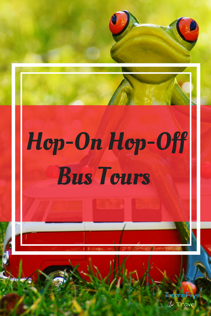 Pinterest Graphic for Hop-On Hop-Off Bus Tours