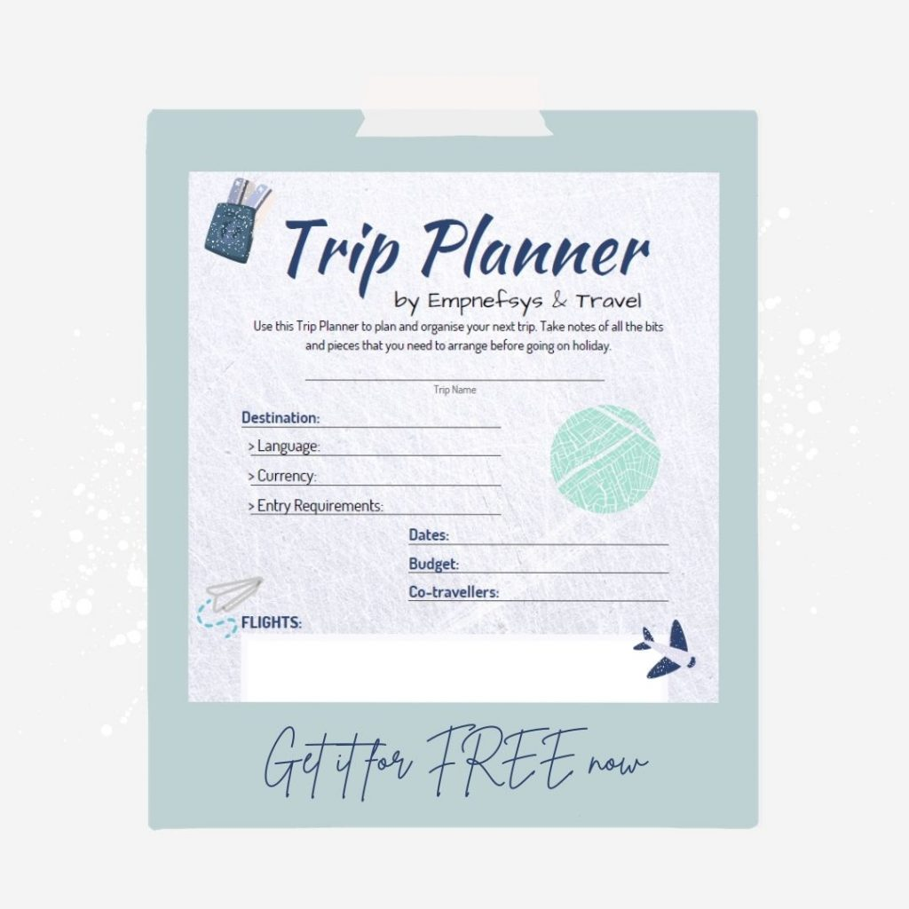A screenshot of the Free Trip Planner